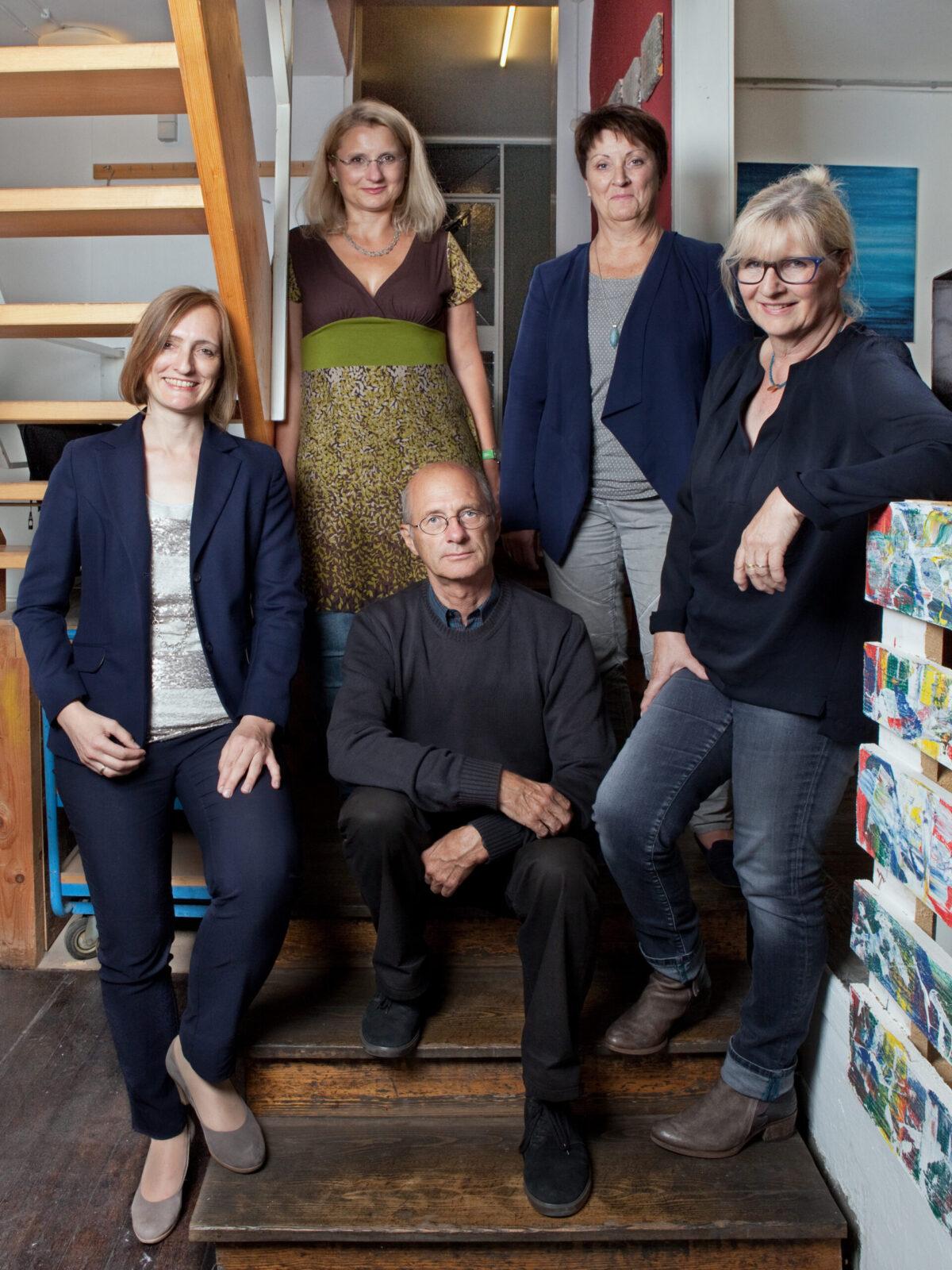 Atelier Möttelin: v.l.n.r.: Carola WeberSchlak; Christine Krause, Rainer Klass, Ingrid Müller, Elke Czudai