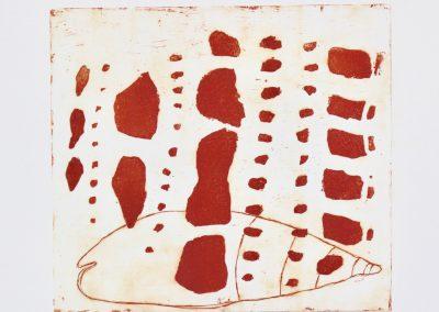 Elke Czudai: Muschel, 80x55, Farbradierung