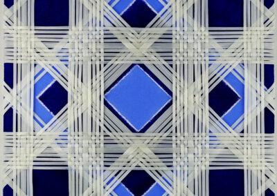 Carola Weber-Schlak - Verflechtung Blau 3